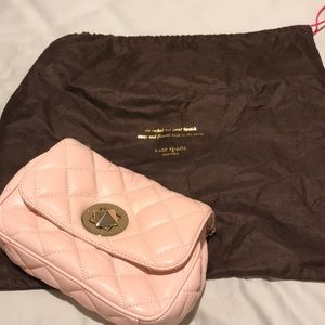 NWOT original Kate Spade quilted blush purse